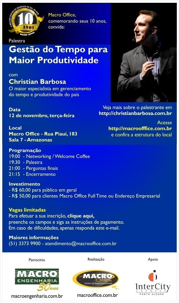 Palestra em Porto Alegre